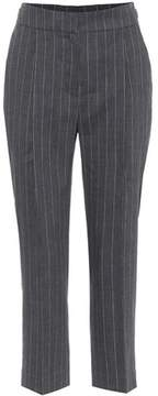 Brunello Cucinelli Linen and wool cropped trousers
