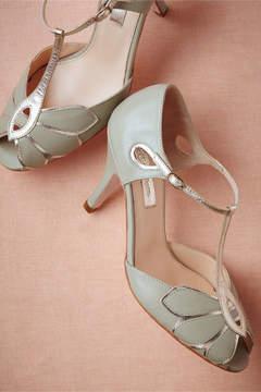 BHLDN Mimosa T-Strap Heels