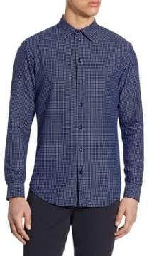 Armani Collezioni Tailored-Fit Box-Print Shirt