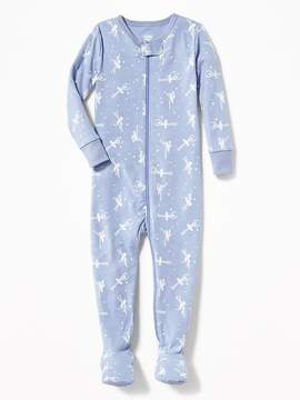 Old Navy Ballerina-Print One-Pieced Footed Sleeper for Toddler & Baby