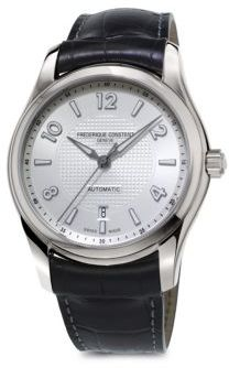Frederique Constant Stainless Steel Automatic Leather Strap Watch