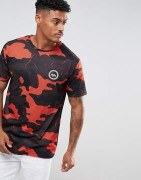 Hype T-Shirt In Red Camo