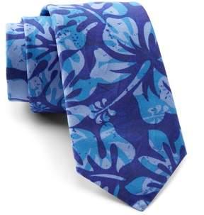 Original Penguin Wild Hibiscus Print Tie