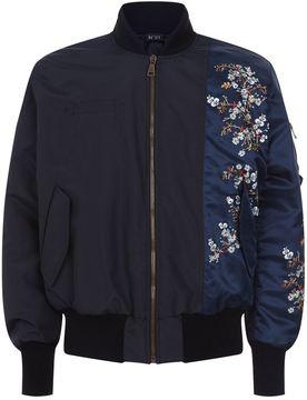 N°21 N 21 Floral Motif Bomber Jacket