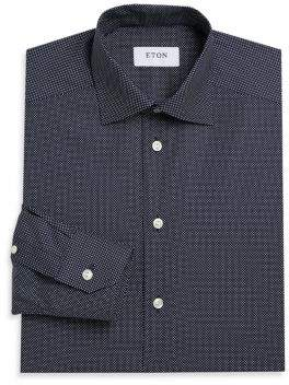 Eton Signature Dotted Slim-Fit Dress Shirt