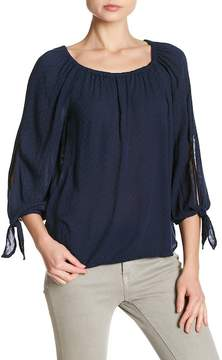 Velvet by Graham & Spencer Deann Tie Sleeve Blouse