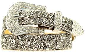 Ariat A1510801-M 1.5 in. Womens Crystal Chip Belt Crystal, Black - Medium