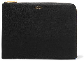 Smythson - Eliot Large Textured-leather Pouch - Black