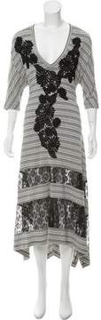 Antonio Marras Lace-Accented Striped Dress