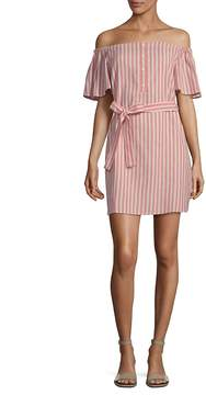 Collective Concepts Women's Striped Tie Waist Mini Dress