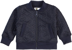 Petit Lem Girl's Quilted Metallic Knit Jacket, Size 3-24