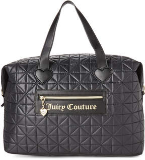Juicy Couture Black Starburst Quilted Weekender
