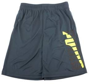 Puma Boy's Contrast Charcoal Logo Trim Athletic Gym Shorts Sz: S
