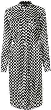 Amiri button-down checked shirt dress