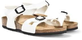 Birkenstock White Patent Rio Sandals