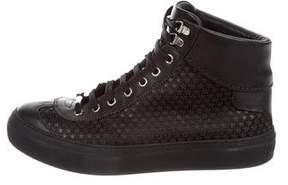 Jimmy Choo Star-Accented High-Top Sneakers