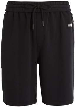 Off-White Logo-patch cotton-jersey shorts