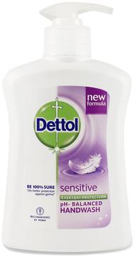 Sensitive Liquid Hand Wash by Dettol (7.6oz Liquid Soap)