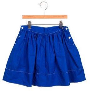 Petit Bateau Girls' Gathered A-Line Skirt