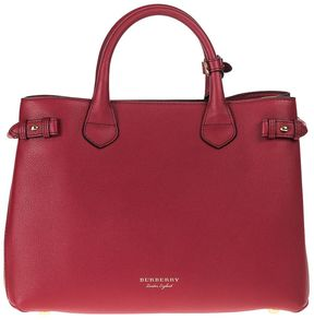 Burberry Handbag Medium Red Leather Hammered - RED - STYLE