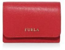 Furla Babylon Leather Business Card Case