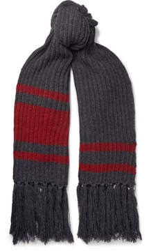 Balenciaga Fringed Virgin Wool Scarf