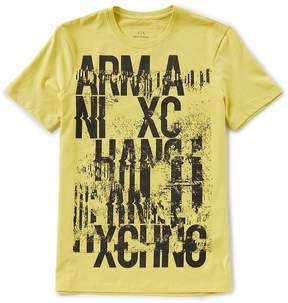 Armani Exchange Graffiti Crew Short-Sleeve Tee