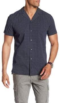 HUGO BOSS Short Sleeve Print Slim Fit Woven Shirt