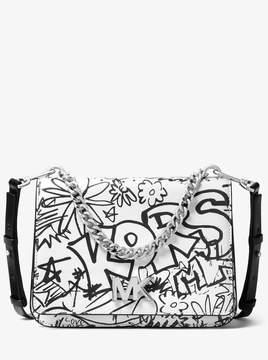 MICHAEL Michael Kors Mott Large Graffiti Leather Crossbody
