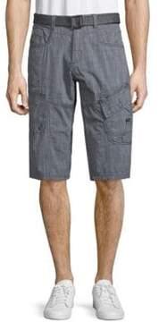 ProjekRaw Belted Cotton Cargo Shorts