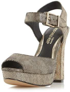 Head Over Heels *Head Over Heels 'Myli' Gold High Heel Sandals