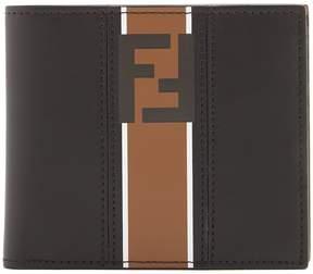 Fendi Striped double-F bi-fold wallet