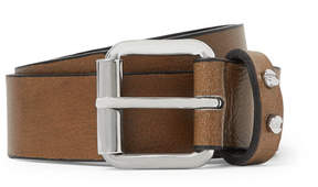 McQ 3cm Brown Leather Belt