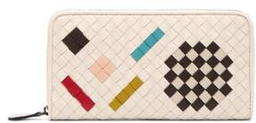 Bottega Veneta Intrecciato Leather Purse - Womens - White Multi