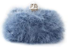 Dolce & Gabbana Feather Evening Bag - CERULEO - STYLE