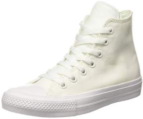 Converse Unisex Chuck Taylor All Star II Hi White/White Basketball Shoe 7 Men US / 9 Women US