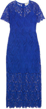 Diane von Furstenberg Guipure Lace Midi Dress - Royal blue