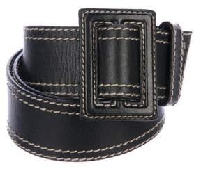 Miu Miu Leather Buckle Belt