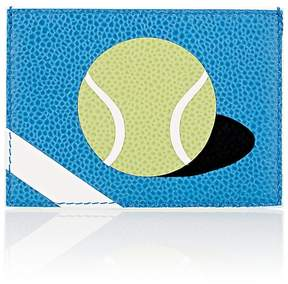 Thom Browne Men's Tennis-Ball Leather Card Case