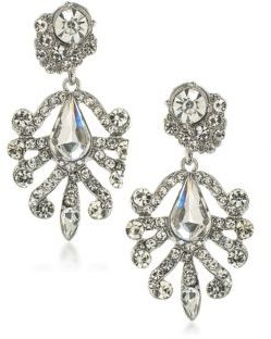 ABS by Allen Schwartz Set In Stone Crystal Chandelier Earrings