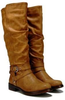 XOXO Women's Martin Wide Calf Tall Boot