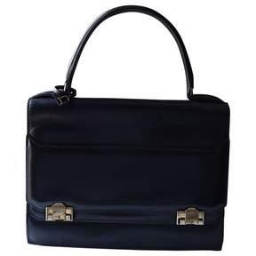 Delvaux Vintage Navy Leather Handbag