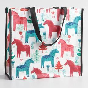 World Market Large Jolly Horses Tote Bag