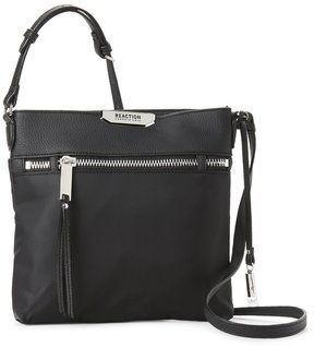 Kenneth Cole Reaction Black Trooper Mid Crossbody