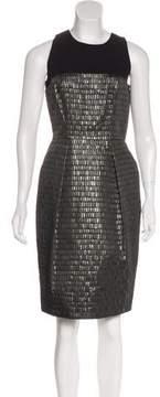Carmen Marc Valvo Jacquard Sheath Dress w/ Tags
