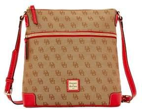 Dooney & Bourke Madison Signature Crossbody Shoulder Bag - RED - STYLE