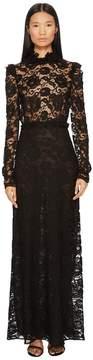 Francesco Scognamiglio Long Sleeve Lace Gown Women's Dress