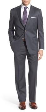 Hart Schaffner Marx Men's New York Classic Fit Stripe Wool Suit