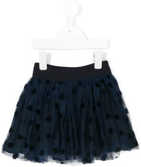 MonnaLisa heart appliqué tutu skirt