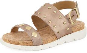 Adrienne Vittadini Perry Metallic Sport Sandal